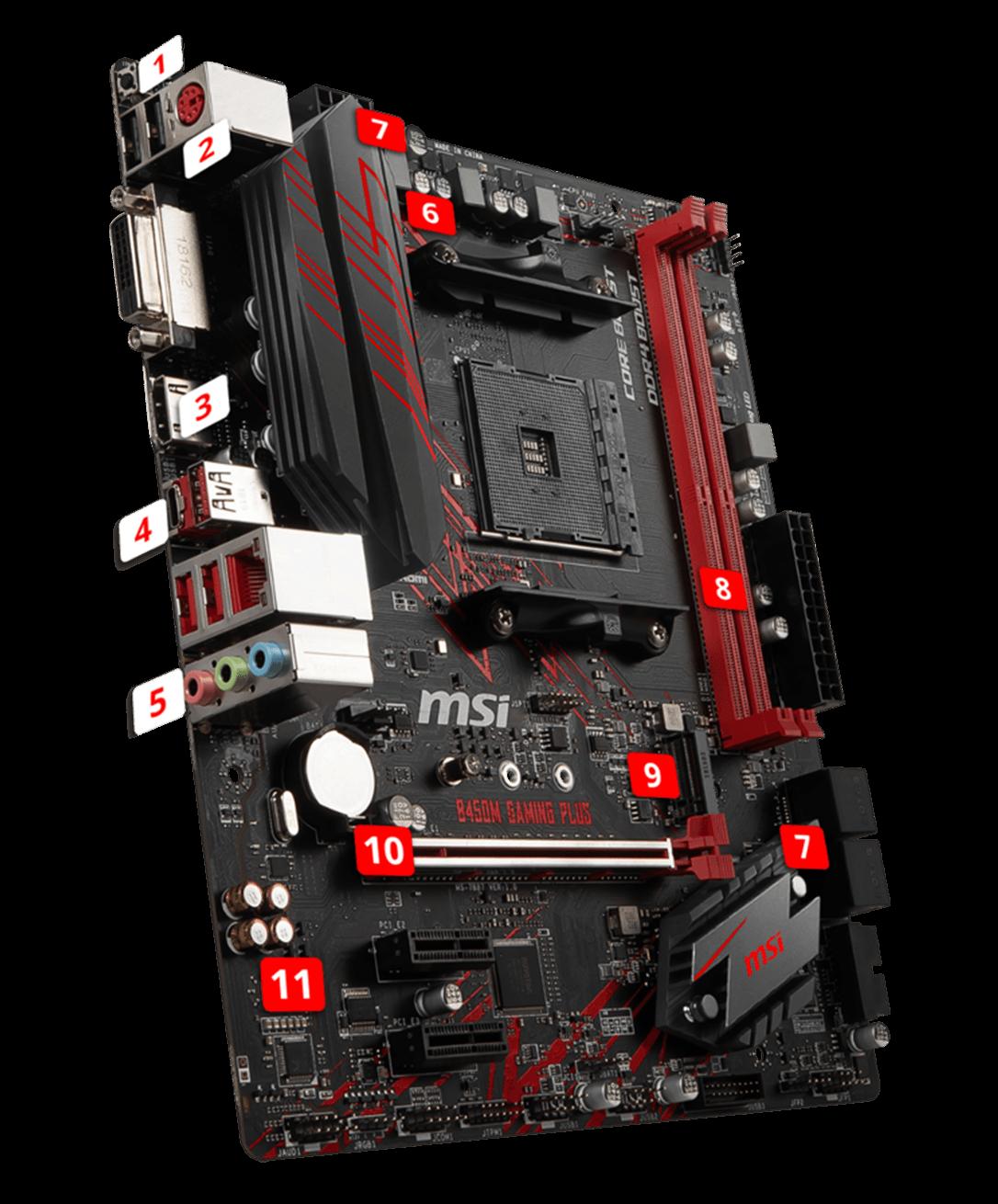 MSI B450M Gaming Plus