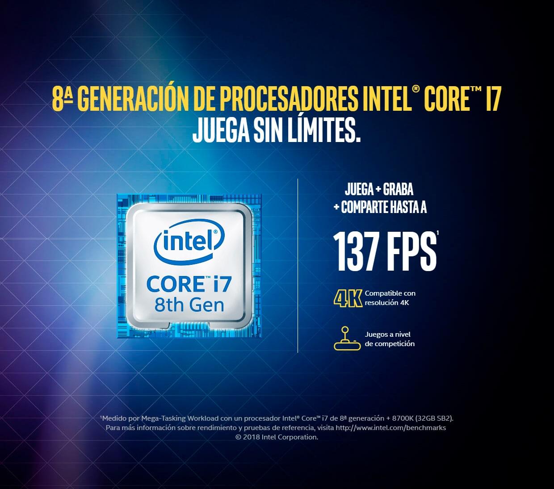 Juega como un profesional con Intel Core i7
