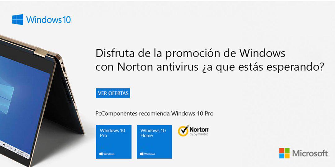 Compra una licencia de Windows 10 y llévate Norton Antivirus