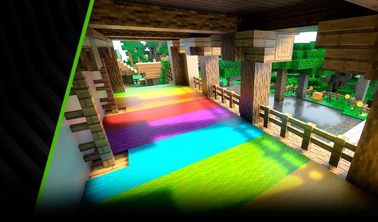 Minecraft con GeForce RTX